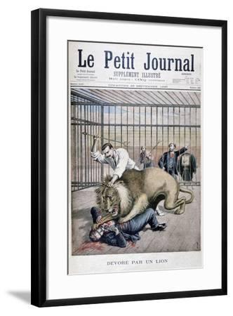 Lion Attack, 1895-Henri Meyer-Framed Giclee Print
