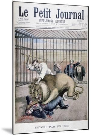 Lion Attack, 1895-Henri Meyer-Mounted Giclee Print