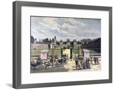 Arrival of the President of the Republique, Château De Fontainebleau, 1892-Henri Meyer-Framed Giclee Print