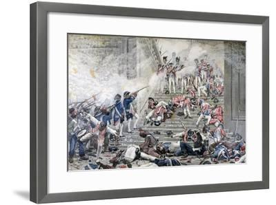 Taking of the Tuileries, 10th August 1792-Henri Paul Motte-Framed Giclee Print