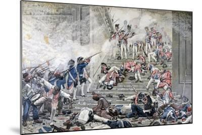 Taking of the Tuileries, 10th August 1792-Henri Paul Motte-Mounted Giclee Print