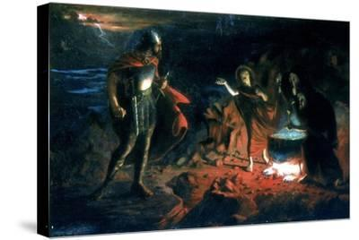 Macbeth and the Witches, Late 19th Century-Henry Daniel Chadwick-Stretched Canvas Print