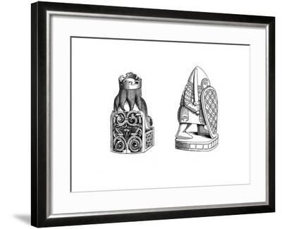 Chessmen, 12th Century-Henry Shaw-Framed Giclee Print