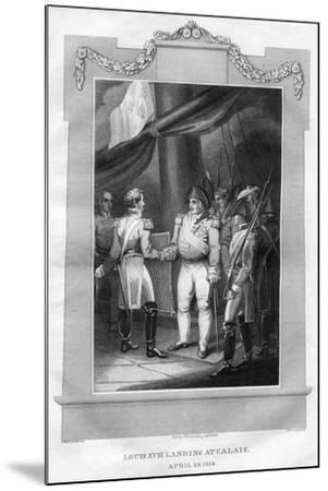 King Louis XVIII of France (1755-182) Landing at Calais, April 1814-I Romney-Mounted Giclee Print