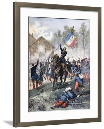 Death of Colonel Malleville, Battle of Solferino, 24th June 1859-Henri Meyer-Framed Giclee Print