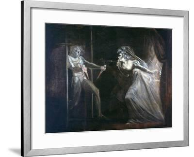 Lady Macbeth Seizing the Daggers, Exhibited 1812-Henry Fuseli-Framed Giclee Print