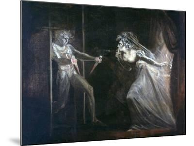 Lady Macbeth Seizing the Daggers, Exhibited 1812-Henry Fuseli-Mounted Giclee Print