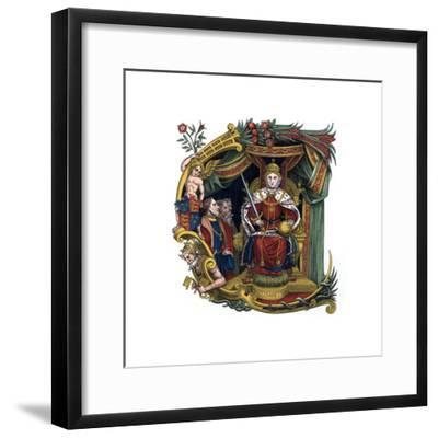 Initial Letter C, 1563-Henry Shaw-Framed Giclee Print
