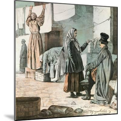 Laundresses, 1846-Ignati Shchedrovsky-Mounted Giclee Print