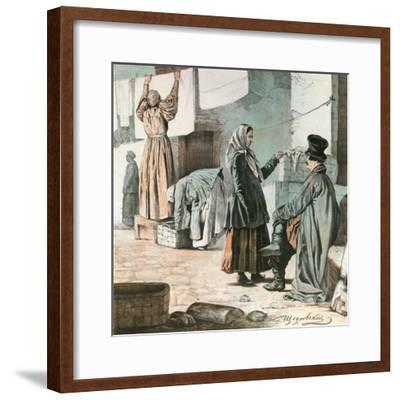Laundresses, 1846-Ignati Shchedrovsky-Framed Giclee Print