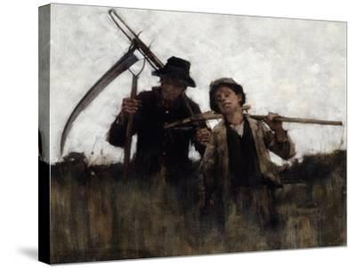 Farm Labourers, (1875-1929)-Henry Herbert La Thangue-Stretched Canvas Print