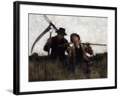 Farm Labourers, (1875-1929)-Henry Herbert La Thangue-Framed Giclee Print
