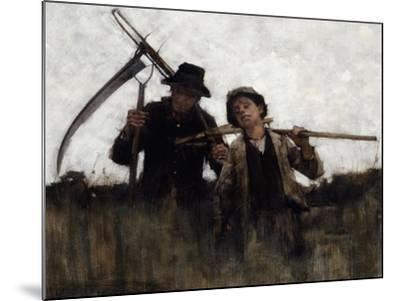 Farm Labourers, (1875-1929)-Henry Herbert La Thangue-Mounted Giclee Print