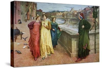 Dante and Beatrice, 1883-Henry Holiday-Stretched Canvas Print