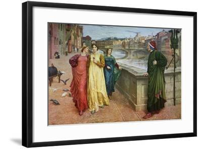 Dante and Beatrice, 1883-Henry Holiday-Framed Giclee Print