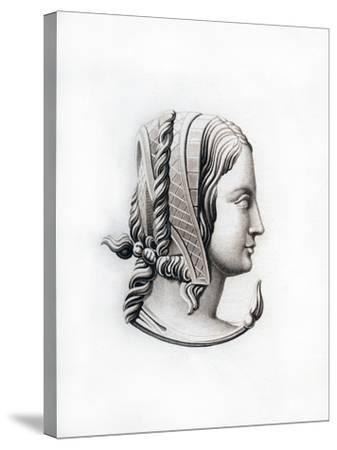 Headdress, Early 16th Century-Henry Shaw-Stretched Canvas Print