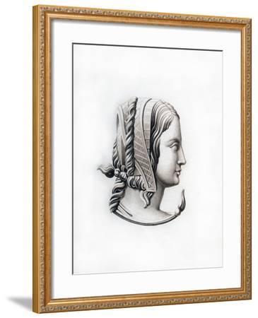 Headdress, Early 16th Century-Henry Shaw-Framed Giclee Print