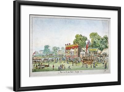 Fair in Hyde Park, Westminster, London, 1814-J Gordon-Framed Giclee Print