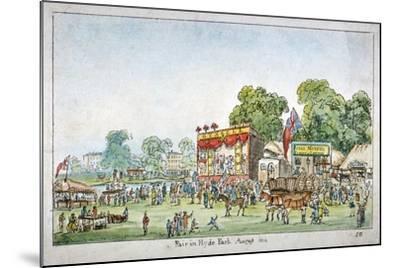 Fair in Hyde Park, Westminster, London, 1814-J Gordon-Mounted Giclee Print
