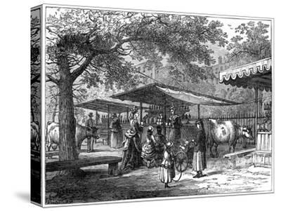 A Milk Fair, St James's Park, London, 1891-J Greenaway-Stretched Canvas Print
