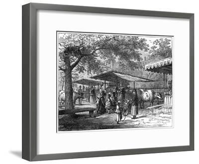 A Milk Fair, St James's Park, London, 1891-J Greenaway-Framed Giclee Print