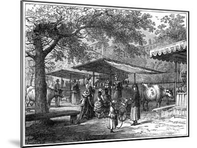 A Milk Fair, St James's Park, London, 1891-J Greenaway-Mounted Giclee Print