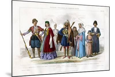 Georgian, Circassian and Armenian Races, 1873-J Le Conte-Mounted Giclee Print