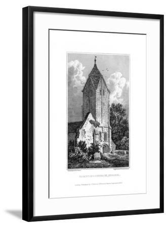 Sompting Church, Sussex, 1829-J Shury-Framed Giclee Print