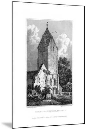 Sompting Church, Sussex, 1829-J Shury-Mounted Giclee Print