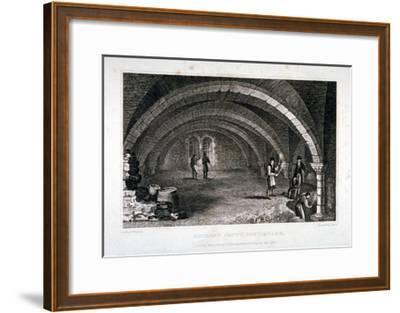 Interior View of the Crypt, St Saviour's Church, Southwark, London, 1830-J Shury-Framed Giclee Print