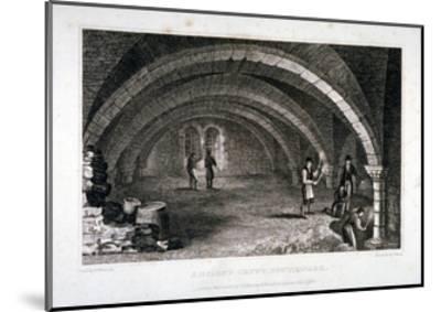 Interior View of the Crypt, St Saviour's Church, Southwark, London, 1830-J Shury-Mounted Giclee Print