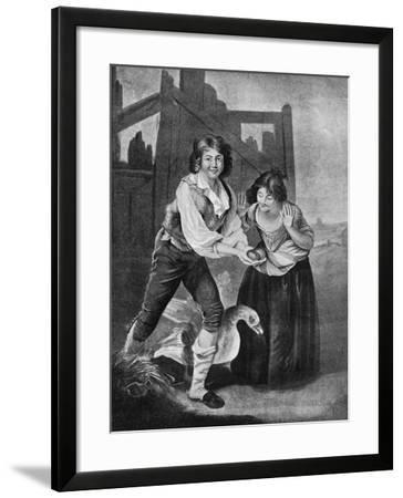 The Boy Discovering the Golden Eggs, 19th Century-J Young-Framed Giclee Print