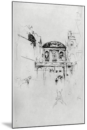 Temple Bar, 19th Century-James Abbott McNeill Whistler-Mounted Giclee Print