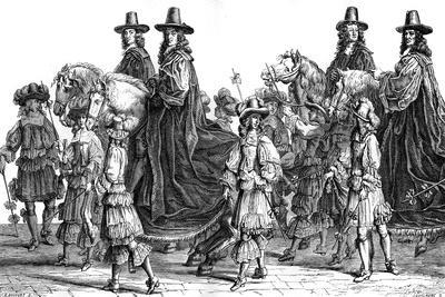 Procession of Magistrates, Paris, 17th Century (1882-188)-J Guillaume-Framed Giclee Print