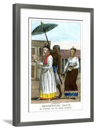 Woman with Servants, C1808-J Haafner-Framed Giclee Print