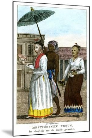 Woman with Servants, C1808-J Haafner-Mounted Giclee Print