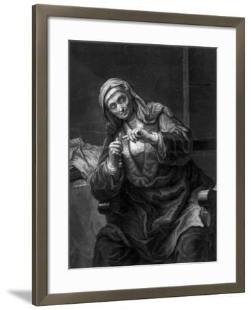 Old Woman Cutting Her Nails, 18th or 19th Century-J Haid-Framed Giclee Print