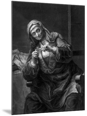 Old Woman Cutting Her Nails, 18th or 19th Century-J Haid-Mounted Giclee Print