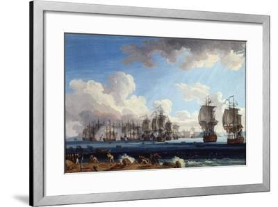 The Naval Battle of Chesma on 5 July 1770, 18th Century-Jacob Philipp Hackert-Framed Giclee Print