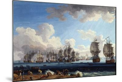 The Naval Battle of Chesma on 5 July 1770, 18th Century-Jacob Philipp Hackert-Mounted Giclee Print