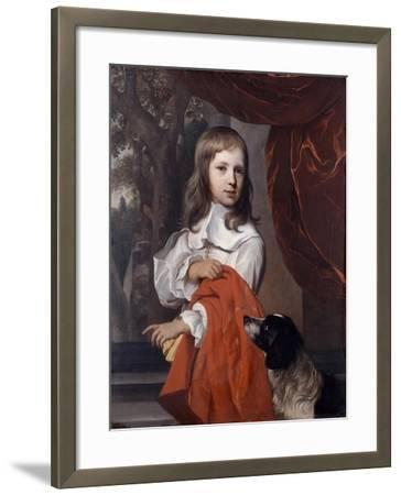 Portrait of a Young Boy with a Dog, 1658-Jacob van Loo-Framed Giclee Print