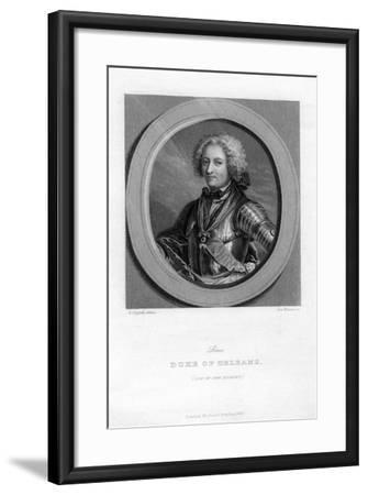 Louis of Bourbon, Duke of Orleans-J Brown-Framed Giclee Print