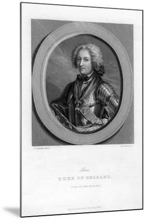 Louis of Bourbon, Duke of Orleans-J Brown-Mounted Giclee Print