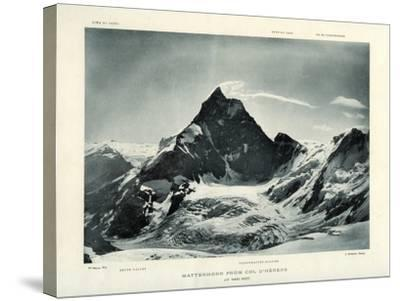The Matterhorn from the Col D'Herens, Switzerland, C1900-J Brunner-Stretched Canvas Print