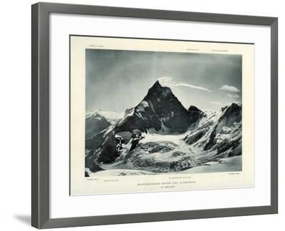 The Matterhorn from the Col D'Herens, Switzerland, C1900-J Brunner-Framed Giclee Print