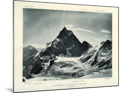 The Matterhorn from the Col D'Herens, Switzerland, C1900-J Brunner-Mounted Giclee Print