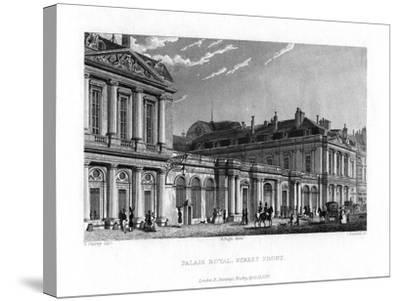 Palais Royal, Paris, France, 1829-J Hanshall-Stretched Canvas Print