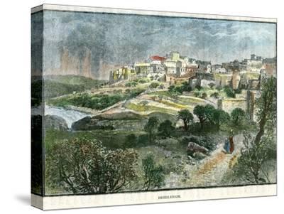 Bethlehem, Palestine, C1885-J Harmsworth-Stretched Canvas Print
