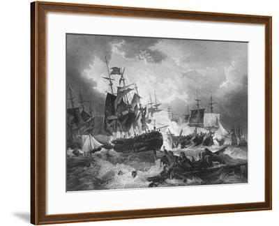 Admiral Duncan's Victory over the Dutch Fleet, North Sea, 11 October 1797-J Rogers-Framed Giclee Print