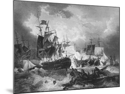 Admiral Duncan's Victory over the Dutch Fleet, North Sea, 11 October 1797-J Rogers-Mounted Giclee Print